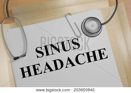 Sinus Headache - Medical Concept
