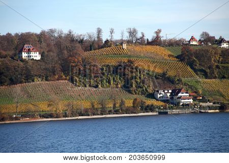 Lake Constance And Town Of Meersburg, Germany