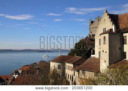 Castle of Meersburg overlooking Lake Constance, Germany