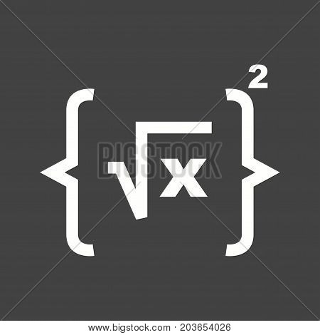 Formula, geometry, maths icon vector image. Can also be used for Math Symbols. Suitable for mobile apps, web apps and print media.