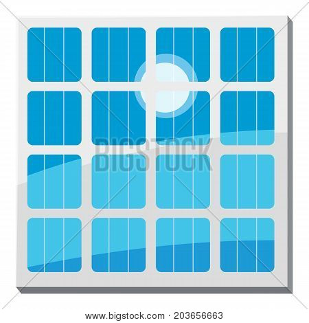 Solar battery icon. Cartoon illustration of solar battery vector icon for web