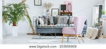 Retro Pastel Interior