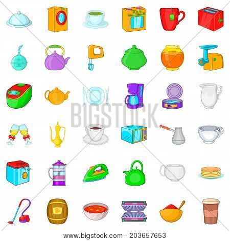 Mixer icons set. Cartoon style of 36 mixer vector icons for web isolated on white background