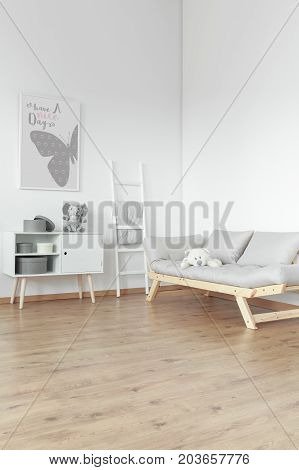 Wooden Commode And Comfortable Sofa