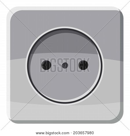 Electric outlet icon. Cartoon illustration of electric outlet vector icon for web