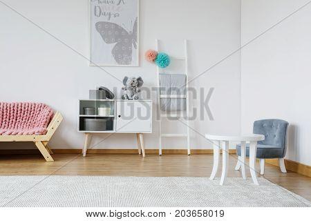Designed Blue Chair