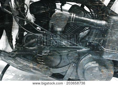 Vintage Image Of An Old Engine