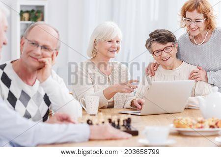 Happy Seniors In Retirement Home