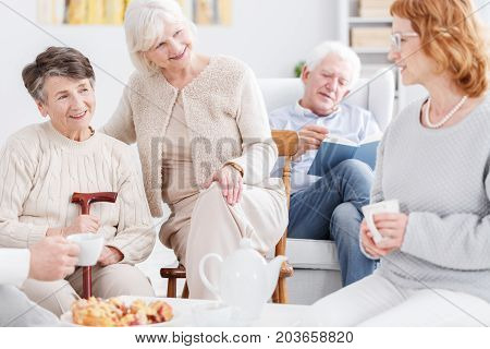 Older Women Having Nice Conversation