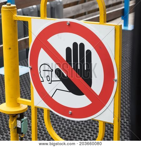 Stopping Sign -the Hand In The Red Circle