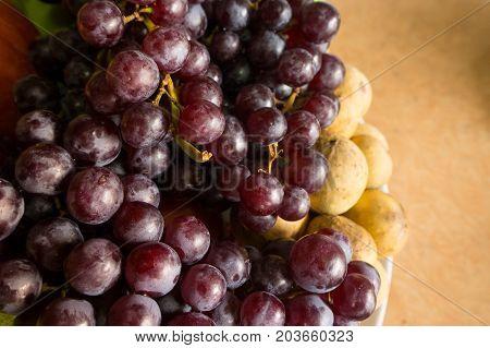 Grape seedless fresh fruit image close up