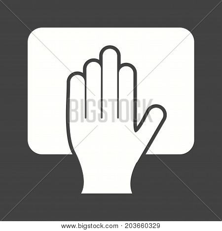Scrubbing, hand, washing icon vector image. Can also be used for Cleaning Services. Suitable for web apps, mobile apps and print media.