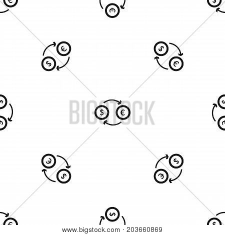 Euro dollar euro exchange pattern repeat seamless in black color for any design. Vector geometric illustration
