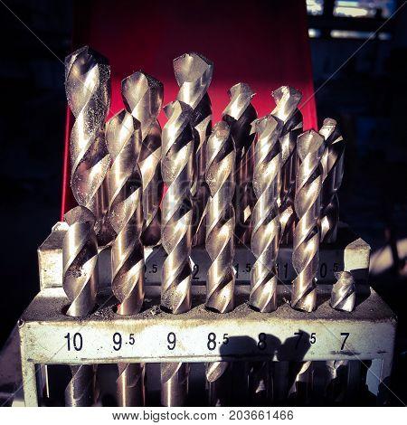 close up photo of drill bits .