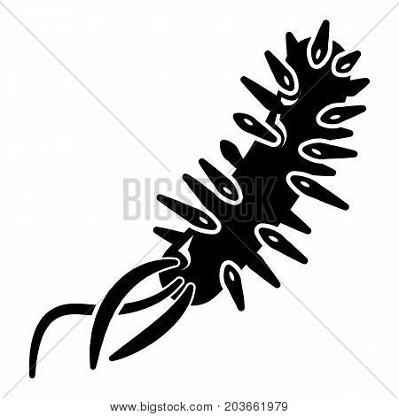 E coli bacteria icon . Simple illustration of e coli bacteria vector icon for web design isolated on white background
