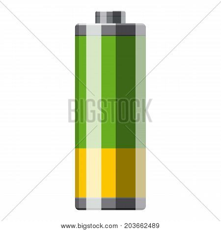 Cylinder electric battery icon. Cartoon illustration of electric battery vector icon for web