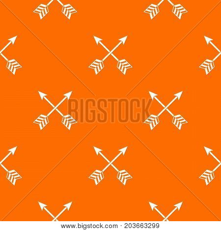 Arrows LGBT pattern repeat seamless in orange color for any design. Vector geometric illustration
