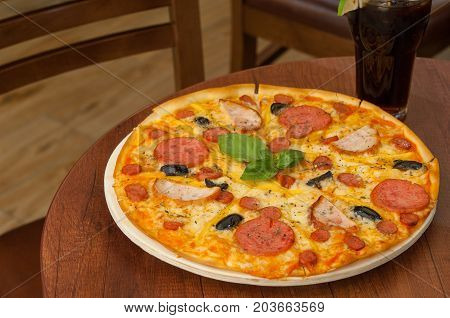 Pizza On The Kitchen Table