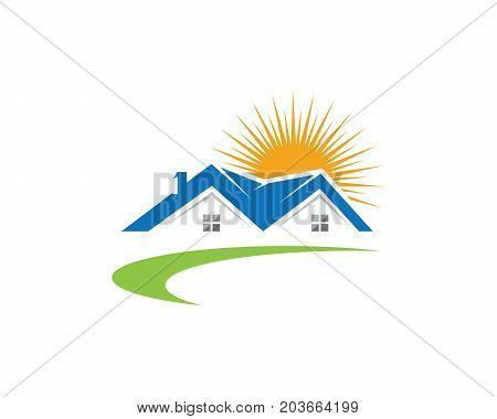 Real Estate Property and Construction Logo design