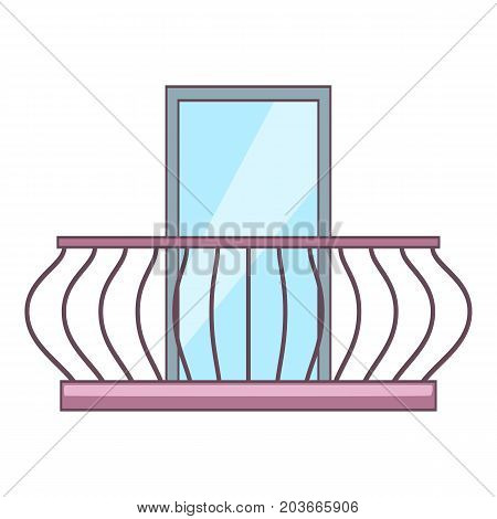 Vintage balcony icon. Cartoon illustration of vintage balcony vector icon for web