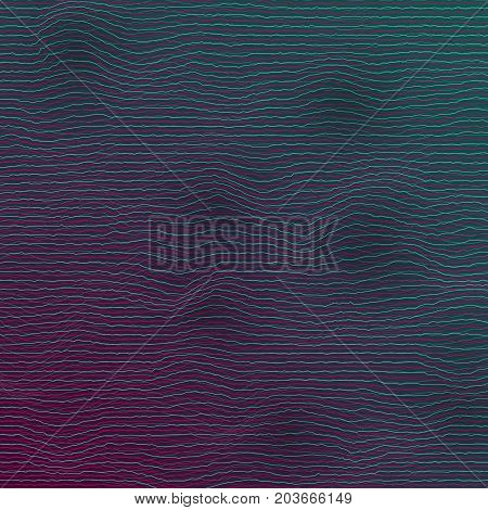 Illustration of Vector Equalizer Frequency Glitch Effect