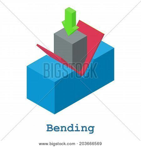 Bending metalwork icon. Isometric illustration of bending metalwork vector icon for web