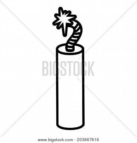 Mine dynamite icon. Outline illustration of mine dynamite vector icon for web design isolated on white background