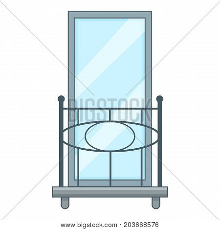 Railing balcony icon. Cartoon illustration of railing balcony vector icon for web