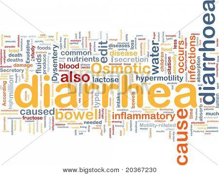 Background concept wordcloud illustration of diarrhea diarrhoea
