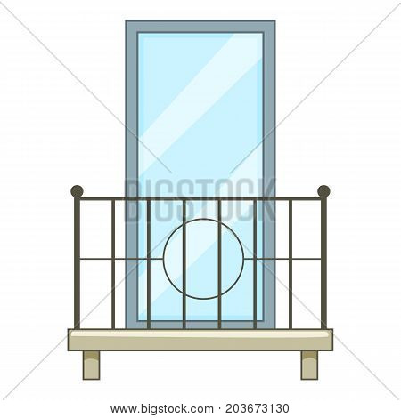 Little balcony icon. Cartoon illustration of little balcony vector icon for web