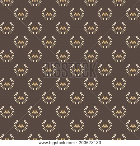 Stars and laurel wreath pattern background stock vector