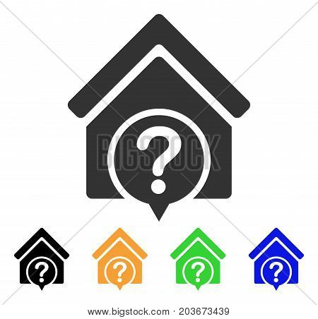 Realty State icon. Vector illustration style is a flat iconic realty state symbol with black, grey, green, blue, yellow color variants. Designed for web and software interfaces.