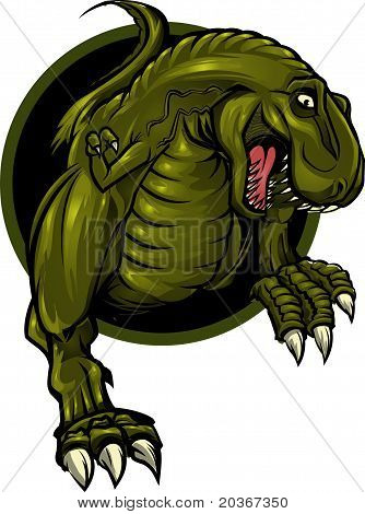 Roaring T-rex mascot! Separated into layers for easy editing. poster