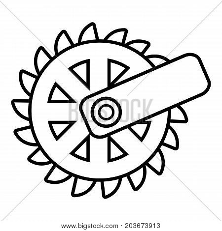 Mining cutting wheel icon. Outline illustration of mining cutting wheel vector icon for web design isolated on white background