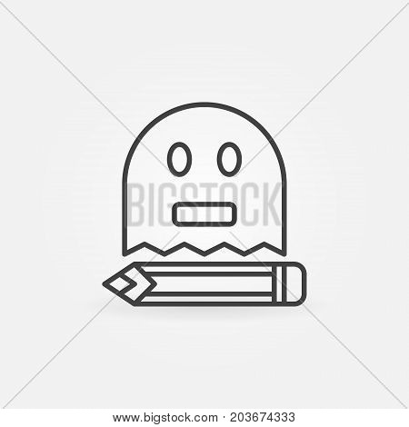 Ghost writing outline modern concept icon or symbol