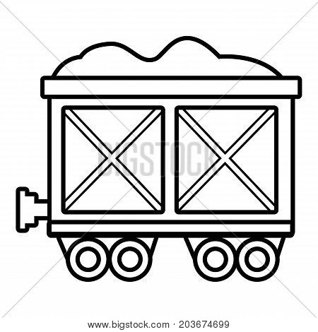 Railway wagon icon. Outline illustration of railway wagon vector icon for web design isolated on white background