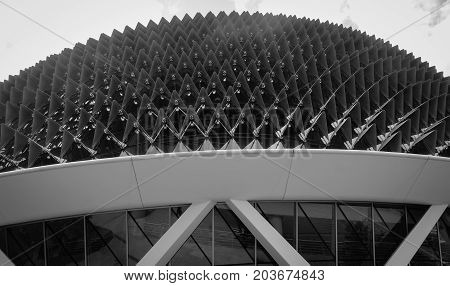 Roof Top Of Esplanade Theatre Of Singapore