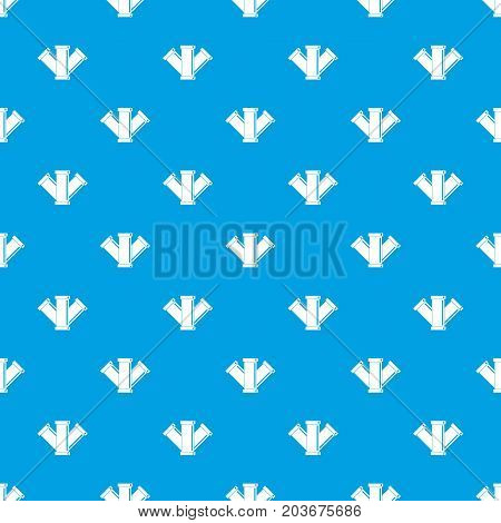 Sewerage pattern repeat seamless in blue color for any design. Vector geometric illustration