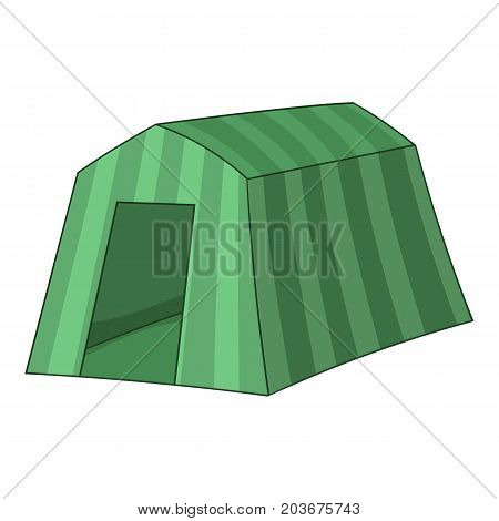 Tourist tent icon. Cartoon illustration of tourist tent vector icon for web