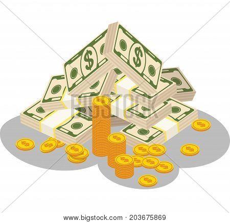 Bundles Of Money Color
