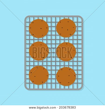 vector illustration of baking cookies. flat design