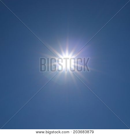 Sun Light On Clear Blue Sky