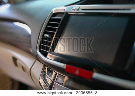 Luxury Interior Vehicle In Modern Car