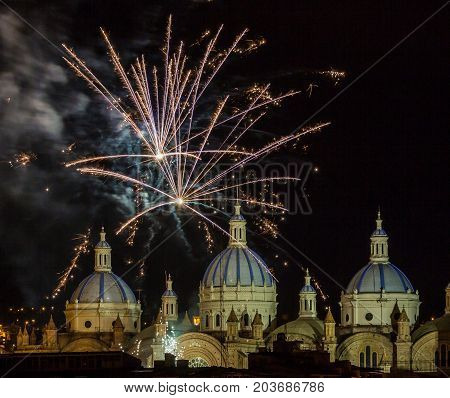 Fireworks Over The Domes