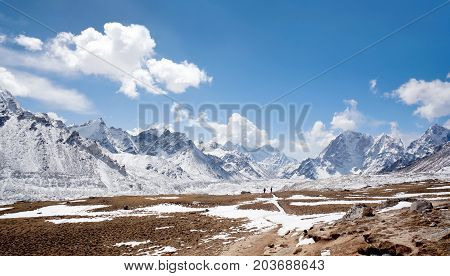 Himalaya Mountain Landscape In Everest Region, Nepal