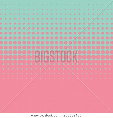 Halftone retro 70s, 80s vector background. Pink and green color combination.