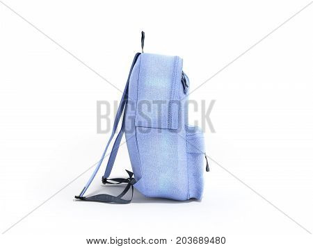 Open Backpack Bag School 3D Render On White