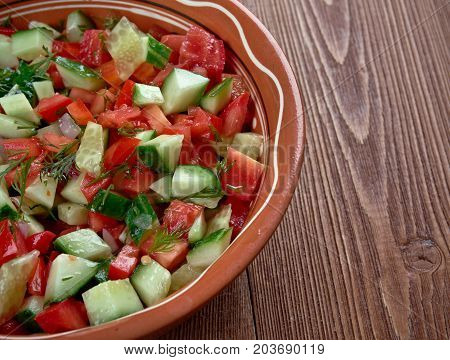 Arab salad , close up arabian meal