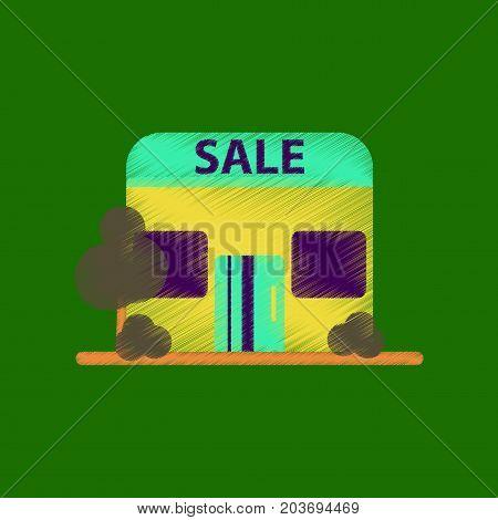 flat shading style icon Shop sale shopping