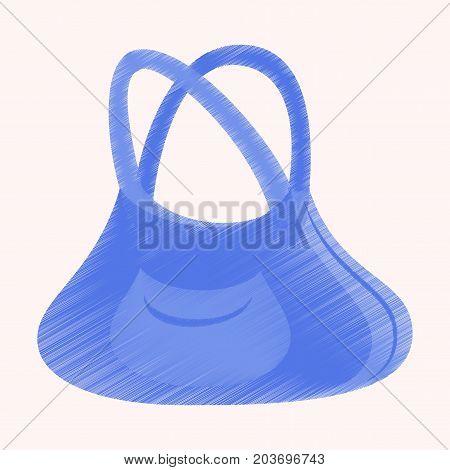 flat shading style icon clothes Handbag trendy